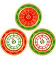set round clocks vector image