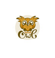 small and cute baowl for your logo with vector image vector image