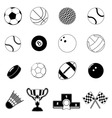 sport item design elements vector image