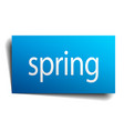 spring blue paper sign on white background vector image vector image