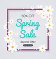 Spring Sale Banner Sale Poster Sale Flyer Sale vector image vector image