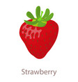 strawberry icon isometric 3d style vector image vector image