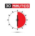 Thirty Minutes Stop Watch - Clock vector image vector image