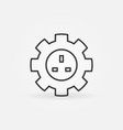 uk smart socket in gear outline icon or vector image vector image