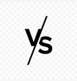 vs versus letters icon vector image vector image
