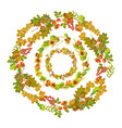 wreaths of autumn leaves put one inside another vector image