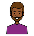 young man black head avatar character vector image vector image