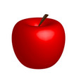 3d apple red apple on white background vector image