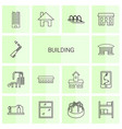 14 building icons vector image vector image
