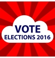 2016 elections in cloud thoughts vector image