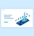 5g network technologies isometric landing page vector image vector image