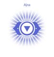 ajna chakra vector image vector image