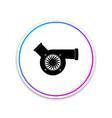 automotive turbocharger icon on white background vector image