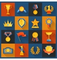 Award icons set flat vector image vector image