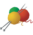 balls of yawn and needle vector image vector image
