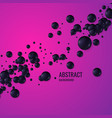 black spheres on a bright background abstract vector image vector image