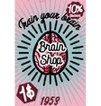 Brain shop banner vector image