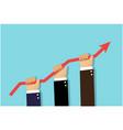 business success through teamwork vector image