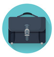businessman briefcase with leather lock vector image