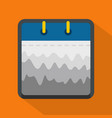 calendar abstract icon flat style vector image