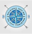 camping adventure expedition logo badge outdoor vector image vector image