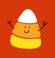 candy corn cute character cartoon vector image vector image