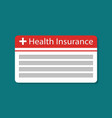 card health insurance icon medical vector image