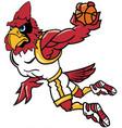 cardinal basketball sports logo mascot vector image vector image