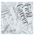 career in college medical Word Cloud Concept vector image vector image