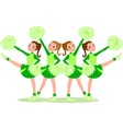 Cheerleaders in green vector | Price: 1 Credit (USD $1)