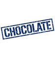 chocolate stamp vector image vector image