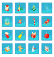 christmas icon blue app vector image vector image
