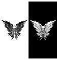 classic skull and wings vector image vector image