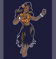 cute smile hula girl dancing vector image