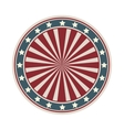 Dartboard with american flag desing vector image
