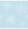 Decoration snowflakes seamless background vector image
