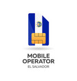 el salvador mobile operator sim card with flag vector image vector image