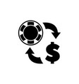 exchange money for casino chips flat icon vector image vector image