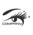 eyelashes eye logo vector image vector image