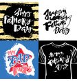 Fathers day concept hand lettering motivation vector image