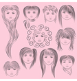 Female Hairstyles vector image vector image