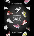 flat black friday poster vector image vector image