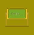 flat icon with thin lines blackboard vector image vector image