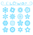 Flower ornaments set vector image vector image