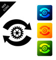 gear and arrows as workflow concept icon isolated vector image vector image