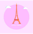 gorgeous eiffel tower from paris made of metal vector image vector image