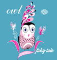 graphic owl vector image vector image