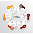 infographics 6 options template for vector image vector image