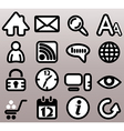 Internet n web bw icons vector image vector image