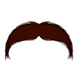 isolated moustache icon vector image